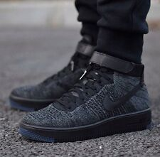 "Nike Air Force 1 Ultra Flyknit Mid ""TRIPLE NERO"" UK 6 EUR 40 ULTIMO!!!"