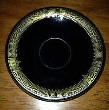 Black Plate w/ 24 K Gold Hand Made in Greece Spyropoulos Collectible Greek