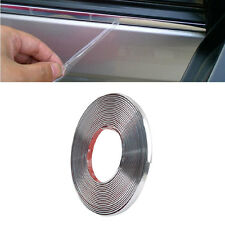 15m Car Auto Exterior Chrome Styling Decoration Moulding Trim Strip 10mm Silver