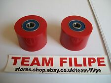 Suzuki RM 500 1983 83 Chain Roller Set Rollers Upper + Lower Chainroller Red