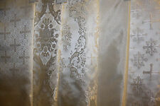 "Church Liturgical Vestment Brocade Fabric ""White Silver"""