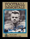 Yale Lary Signed 1985 Football Immortals Card Autographed Lions Texas A&M 20460