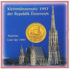 Österreich KMS 1997 10 Groschen - 20 Schilling hgh im Folder