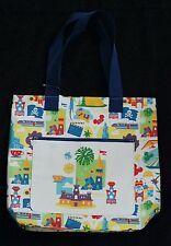 Large White Disneyland World Park Icon Attraction Ride Castle Tote Bag