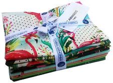 Windham FLAMINGOS Fat Quarter Bundle 7 Precut Fabric Quilting FQs
