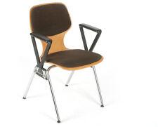 Stuhl Stahlrohr Schicht-Holz Sitzschale gepolstert Hopsack chaise chair stool