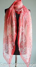 Lagerfeld maxi foulard in seta a fiori rosso large scarf with red flowers