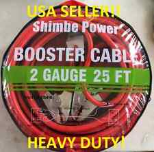 2 GA/ Gauge 25 FT Foot Booster Jumper Cables Commercial Grade Heavy Duty!