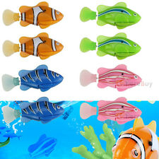 8Pcs Robo Fish Battery Powered Robofish Clownfish Electric Gift Children Kid Toy