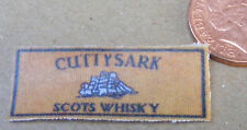 1:12 scala SINGLE cuttysark SCOTS WHISKY DOLLS HOUSE miniatura Panno Bar Asciugamano