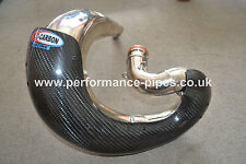 PRO CARBON Fibre Exhaust Guard fits FMF FATTY KAWASAKI KX250 KX 250 2003 - ON