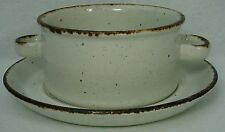 MIDWINTER Wedgwood china CREATION pattern CREAM SOUP BOWL and UNDERPLATE Saucer