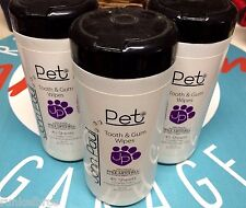 JOHN PAUL PET TOOTH & GUM WIPES - set of 3 - PERFECT FOR YOUR CAT OR DOG!