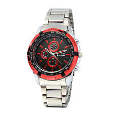Newyork Army Men's Red Bezel Stainless Strap Black Dial Watch NYA2658 COD Paypal