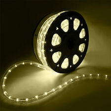 50'FT Warm White LED Rope Light 110V Home Party Christmas Decorative In/Outdoor