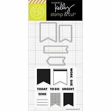 Hero Arts - Kelly's Planner Banners - Stamp & Cut Clear Stamp Set DC173 -#199