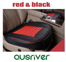 New Universal Breathable Leather Car Front Seat Cover One Single Piece Red&Black