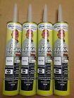 Dicor Self-Leveling Lap Sealant White 10.3 oz Tube for Roof Repair 4 PACK