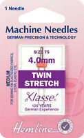 Size 75/11 Stretch with 4mm Gap Sewing Machine Needle - Klasse Twin - Pack 1