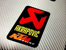 1 Adesivo Sticker AKRAPOVIC Racing Alte Temperature High Temperatures