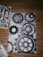 Light Switch Cover Plate ~  Steampunk Industrial Gears tutu tesla victorian