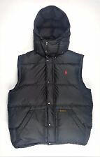 Polo Ralph Lauren Mens Boulder Down Hooded Puffer Vest Gilet Body Warmer - Large