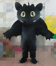 hot selling Toothless Black Dragon brand new adult Mascot Costume fancy dress