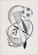 Yves Fellmann.   Ex-Libris Bookplate. Football   qq929