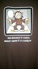 To The Edge NWT Men's Brown w/ Nutty Candy Bar Desing T-Shirt Size M