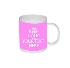 New Keep Calm And Carry On Personalised Text Name Colours Birthday Gift Mug Cup