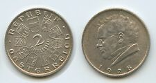 G5887 - Österreich 2 Schilling 1928 KM#2843 Franz Schubert Silber 1.Republik