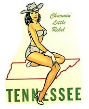 Tennessee Pin-Up Girl  Vintage-1950's Style   Travel Sticker/Decal/Label
