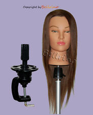 "*USA SELLER* 24 "" Cosmetology Mannequin Head 100% HUMAN Hair WITH CLAMP EED"