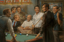 Callin' the Blue Andy Thomas Presidents Political Billiard Print Poster 18x11.75