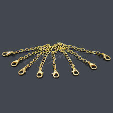 20Pcs Tone Extension Link Chain Tail Necklace Extender + Lobster Clasp