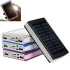 30000mAh Dual USB Portable Battery Charger Solar Power Bank For Cell Phone New