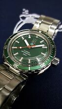 VOSTOK NEPTUNE AMPHIBIA GREEN LIMITED EDITION Russian Auto Divers Scuba Watch