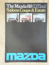 MAZDA 818 SALOON COUPE ESTATE orig 1976 UK Mkt Sales Brochure