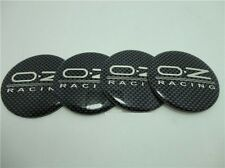 Set of 4 3D Sticker OZ Centre Cap Alloy Wheels 57mm Carbon Fibre Style OZ Racing