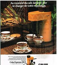 Publicité Advertising 1976 La Machine à café Calor Expresso