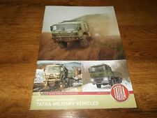 TATRA 2016 Military Trucks Range Brochure Prospekt Catalogue