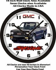 GMC SYCLONE PICKUP TRUCK WALL CLOCK-FREE USA SHIP!1