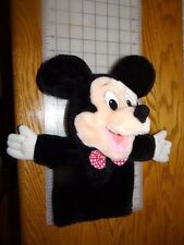 """Vintage Mickey Mouse hand puppet plush toy APPLAUSE bow tie 11"""" Disney #14549"""