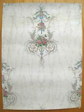 Antique 19th C. French Neoclassical Floral Wallpaper  (8958 )