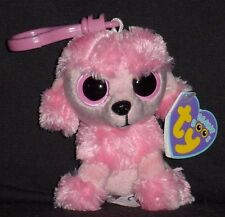 TY BEANIE BOOS KEY CLIP - PRINCESS the POODLE DOG - MINT with MINT TAG