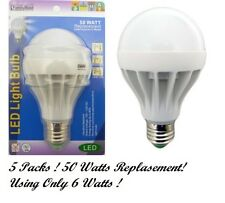 5 x LED Cool White Vibration Resistant Bulbs Lamp 50 Watts Replacement Using 6W