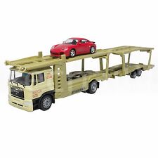 Affluent Town 1:64 Die-Cast Man Large Carrier Trailer Truck Green Color Model