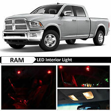 12x Red Interior LED Lights Package Kit for 2009-2014 Dodge RAM 1500