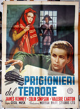 original movie poster TRAPPED BY TERROR James Kennedy Valerie Carton 1953