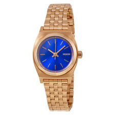 Nixon The Small Time Teller Colbalt Blue Dial Rose Gold-tone Ladies Watch